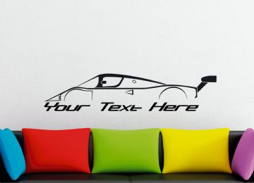 Large Custom car silhouette wall sticker - for Sauber Mercedes-Benz C9 1989 Le Mans classic race car